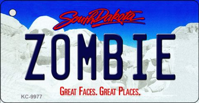 Zombie South Dakota Background Metal Novelty Key Chain