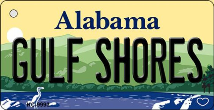 Gulf Shores Alabama Background Metal Novelty Key Chain
