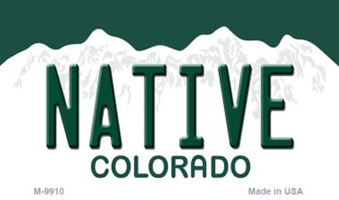 Native Colorado Metal Novelty Magnet M-9910