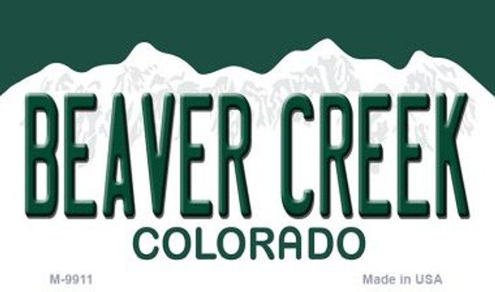 Beaver Creek Colorado Background Metal Novelty Magnet