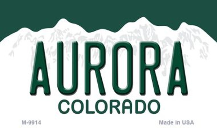 Aurora Colorado Background Metal Novelty Magnet