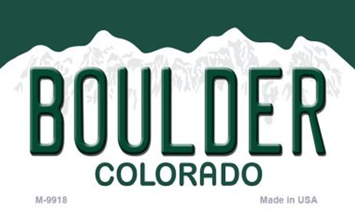 Boulder Colorado Background Metal Novelty Magnet