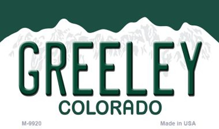 Greeley Colorado Background Metal Novelty Magnet