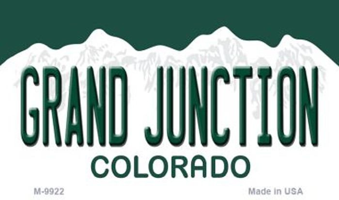 Grand Junction Colorado Metal Novelty Magnet M-9922