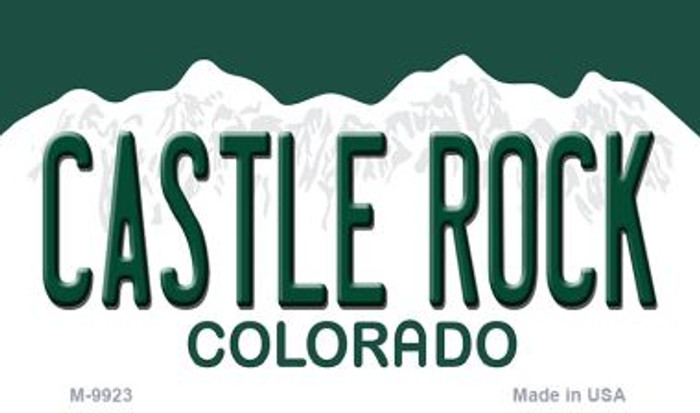 Castle Rock Colorado Metal Novelty Magnet M-9923