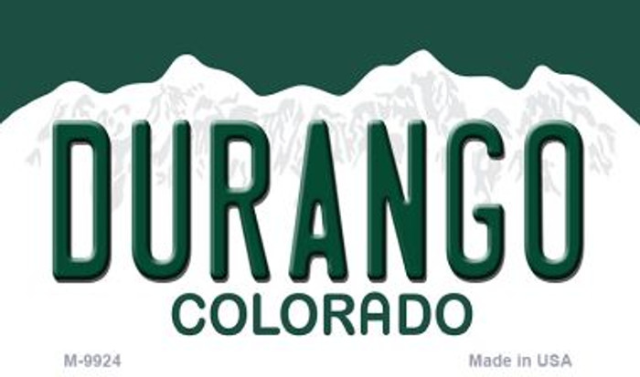 Durango Colorado Background Metal Novelty Magnet