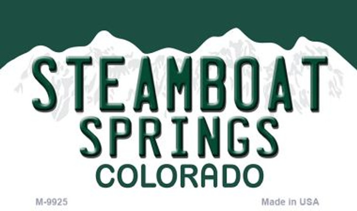 Steamboat Springs Colorado Background Metal Novelty Magnet