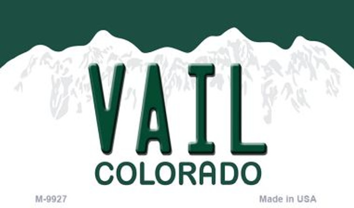 Vail Colorado Background Metal Novelty Magnet