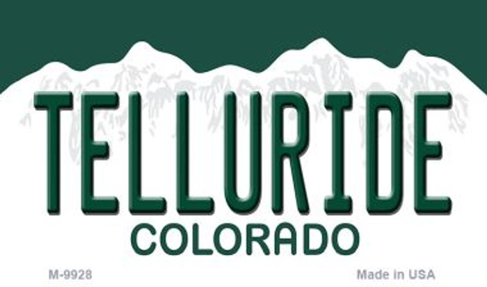 Telluride Colorado Background Metal Novelty Magnet