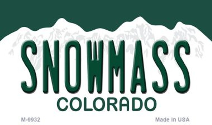 Snowmass Colorado Background Metal Novelty Magnet