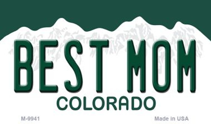 Best Mom Colorado State Metal Novelty Magnet M-9941
