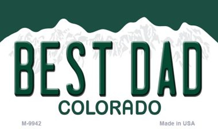 Best Dad Colorado State Background Metal Novelty Magnet