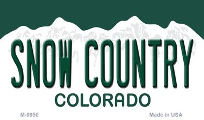 Snow Country Colorado State Background Metal Magnet Novelty