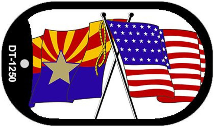 "Arizona American State Flag Dog Tag Kit 2"" Metal Novelty"