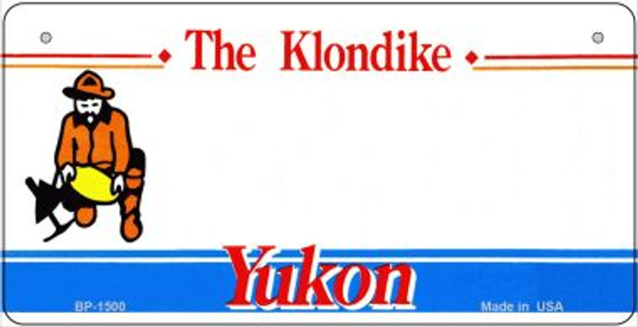 Yukon State Novelty Bicycle License Plate BP-1500