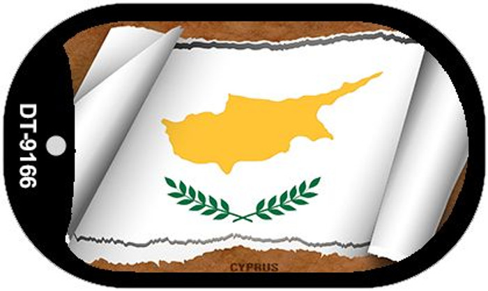 "Cyprus Country Flag Scroll Dog Tag Kit 2"" Metal Novelty"