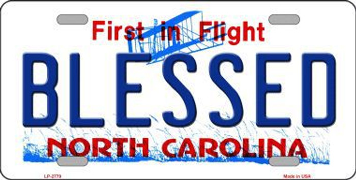 Blessed North Carolina Metal Novelty License Plate LP-2779