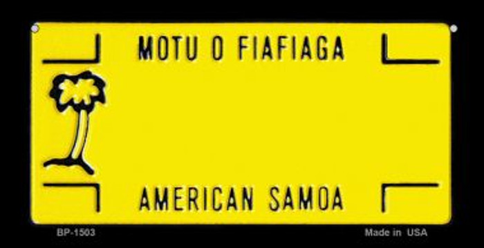 American Samoa State Background Novelty Bicycle License Plate