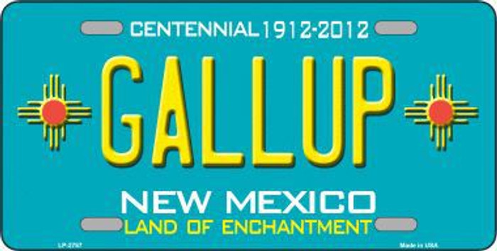 Gallup New Mexico Teal Novelty Metal License Plate LP-2787
