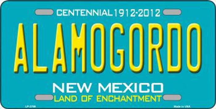 Alamogordo New Mexico Teal Novelty Metal License Plate LP-2789
