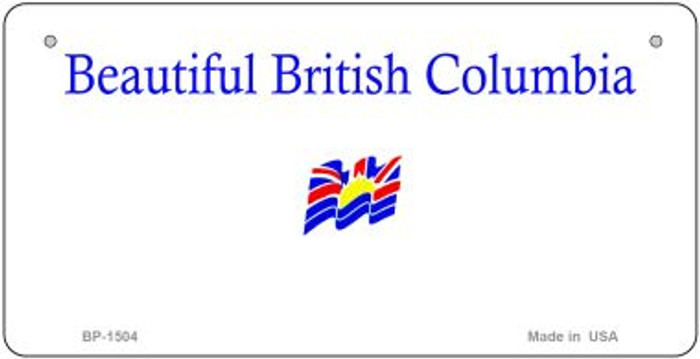 British Columbia State Background Novelty Bicycle License Plate