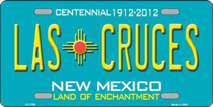 Las Cruces New Mexico Teal Novelty Metal License Plate LP-2790