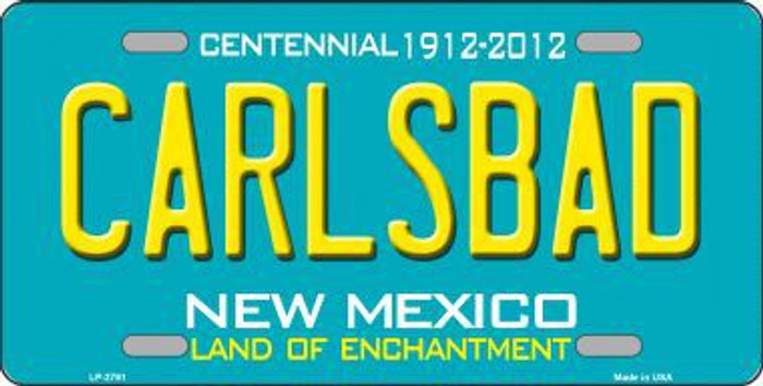 Carlsbad New Mexico Teal Novelty Metal License Plate LP-2791