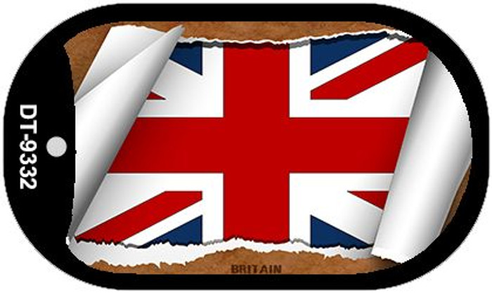 "Britain Country Flag Scroll Dog Tag Kit 2"" Metal Novelty"