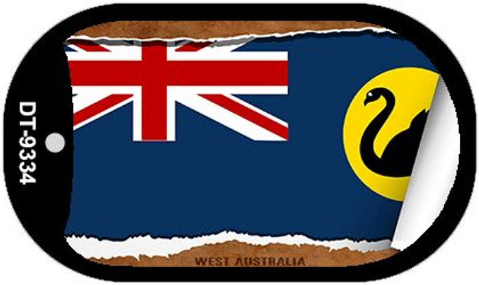 "West Australia Country Flag Scroll Dog Tag Kit 2"" Metal Novelty"