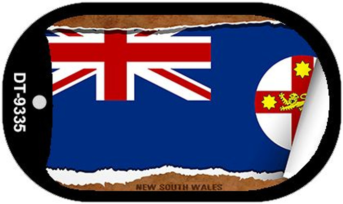 "New South Wales Country Flag Scroll Dog Tag Kit 2"" Metal Novelty"
