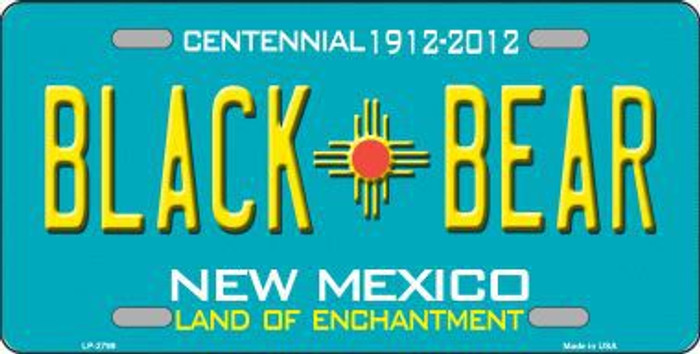 Black Bear New Mexico Teal Novelty Metal License Plate LP-2799