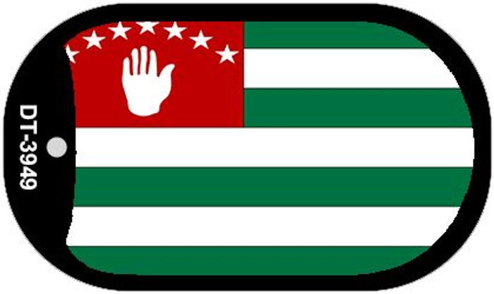 "Abkhazia Country Flag Scroll Dog Tag Kit 2"" Metal Novelty"