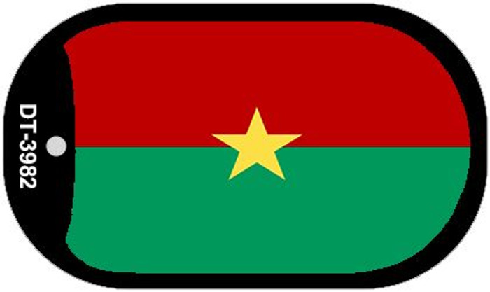 "Burkina Faso Country Flag Scroll Dog Tag Kit 2"" Metal Novelty"