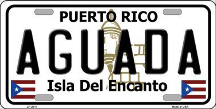 Aguada Puerto Rico Metal Novelty License Plate LP-2811