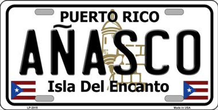 Anasco Puerto Rico Metal Novelty License Plate LP-2815