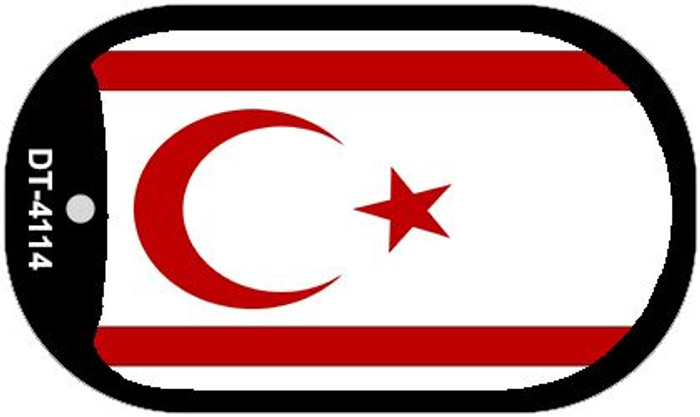 "Northern Cyprus Country Flag Dog Tag Kit 2"" Metal Novelty"