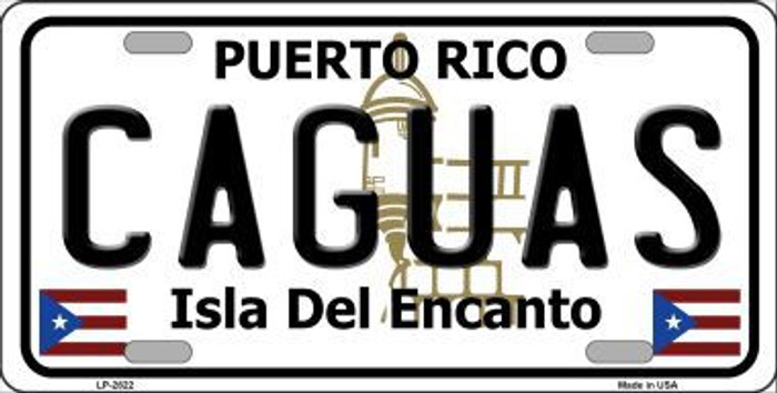 Caguas Metal Novelty License Plate LP-2822