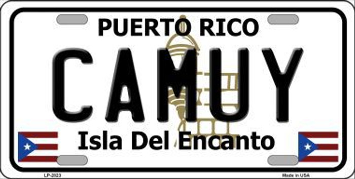 Camuy Metal Novelty License Plate LP-2823
