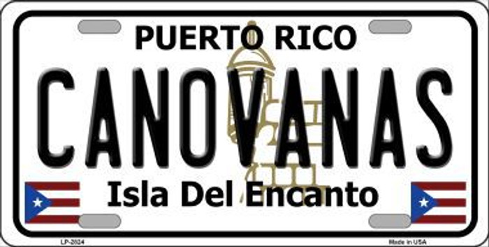 Canovanas Puerto Rico Metal Novelty License Plate LP-2824