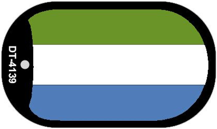 "Sierra Leone Country Flag Dog Tag Kit 2"" Metal Novelty"