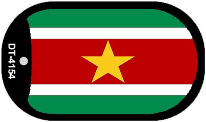 "Suriname Country Flag Dog Tag Kit 2"" Metal Novelty"