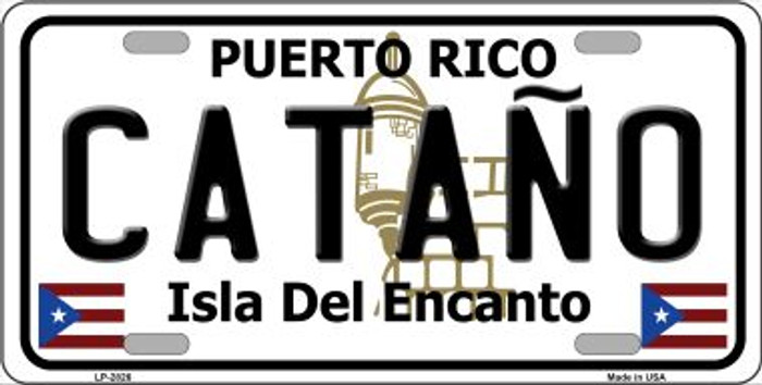 Catano Puerto Rico Metal Novelty License Plate LP-2826