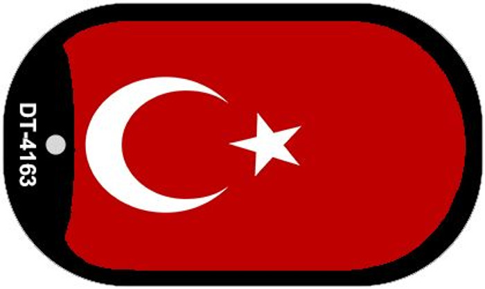 "Turkey Country Flag Dog Tag Kit 2"" Metal Novelty"