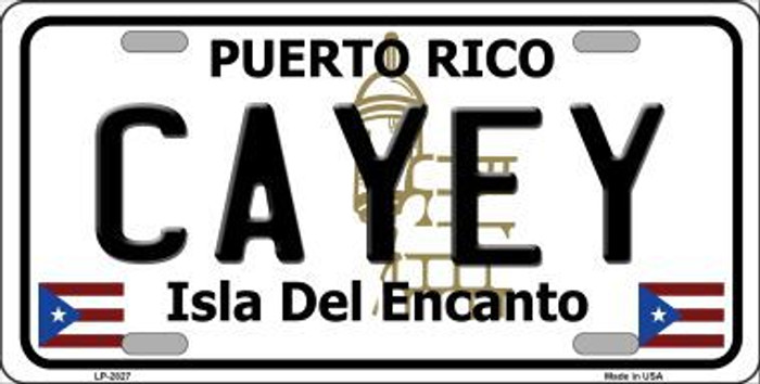 Cayey Puerto Rico Metal Novelty License Plate LP-2827