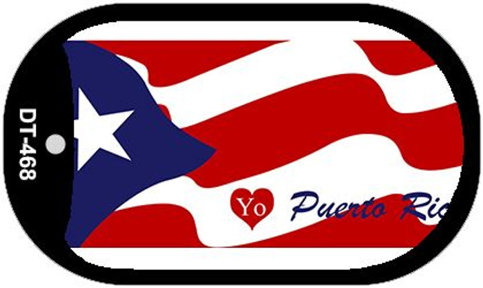 "I love Puerto Rico Country Flag Dog Tag Kit 2"" Metal Novelty"