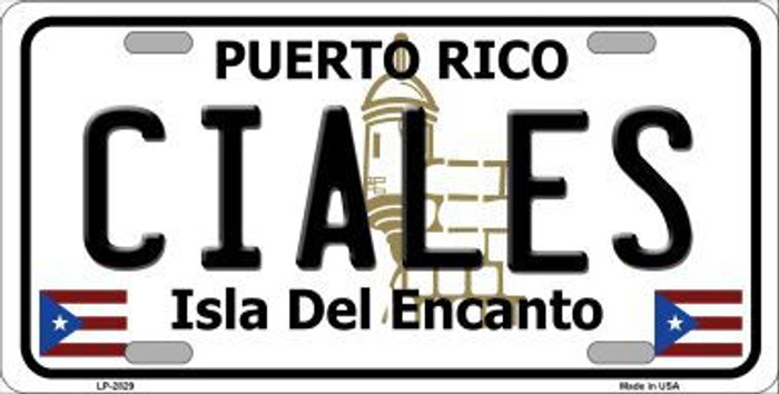 Ciales Metal Novelty License Plate LP-2829