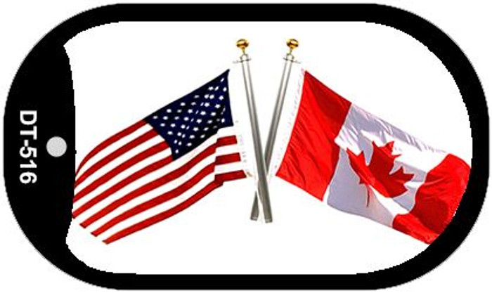"American Canada Country Flag Dog Tag Kit 2"" Metal Novelty"