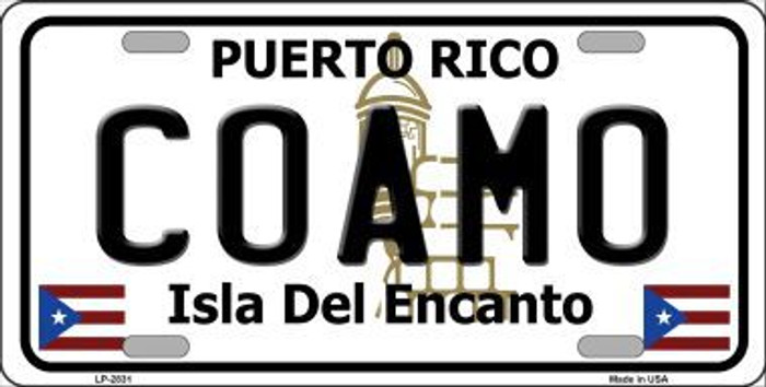 Coamo Metal Novelty License Plate LP-2831
