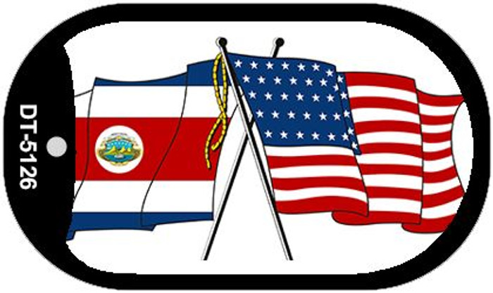 """American Costa Rica Country Flag Dog Tag Kit 2"""" Metal Novelty"""