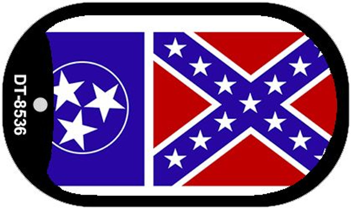 "Tennessee Confederate Country Flag Dog Tag Kit 2"" Metal Novelty"